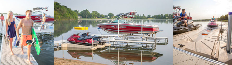 Boat lifts, floating dock, pwc lifts, floating boat docks, pontoon boat lifts, hydraulic boat lift, roll in docks, dock installation, boat pier, shore station boat lifts